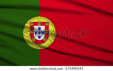 Portugal Waving Flag 3d Illustrator