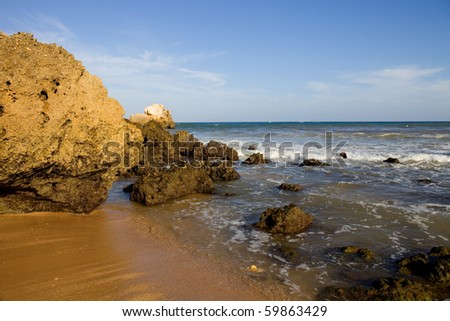 portuguese beach at Algarve, the south of the country