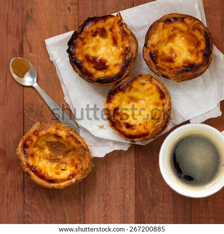 portuguese cookies with coffee - stock photo