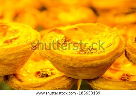 portuguese egg tart - stock photo