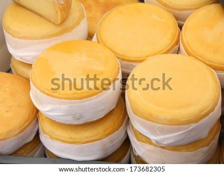 Portuguese farmers cheese - stock photo