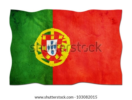 Portuguese Flag made of Paper - stock photo