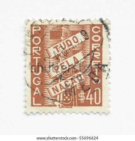 Portuguese postage stamps from Portugal (European Union) - stock photo