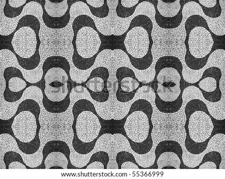 portuguese stone pattern - stock photo
