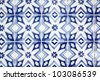 Portuguese tiles (azulejos) close-up - stock photo