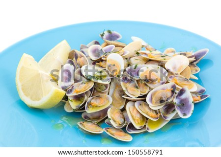 """portuguese traditional clams """"conquilhas"""" - stock photo"""