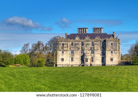 Portumna Castle in Co. Galway, Ireland - stock photo