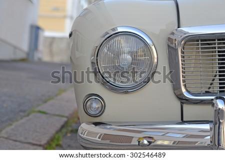 Porvoo, Finland - July 25, 2015: Volvo B18, retro car - stock photo