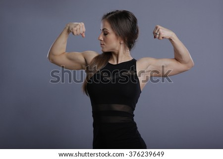 Pose of a fitness model