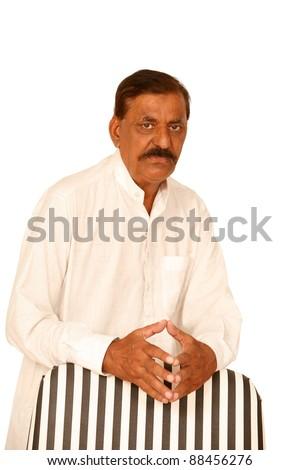 Pose of indian muslim man - stock photo