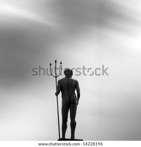 Poseidon (Long Exposure) - stock photo