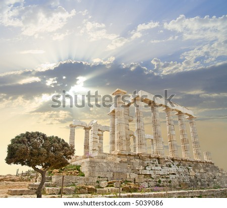 Poseidon Temple, Greece - stock photo