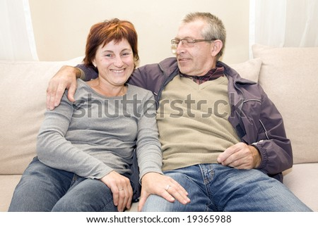 posing couple - stock photo