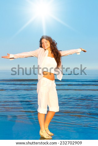 Posing Model Prayer  - stock photo