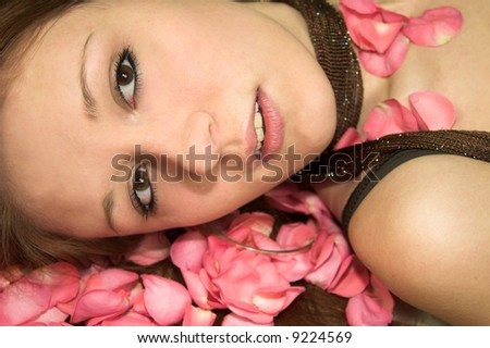 posing young girl - stock photo