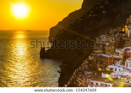 Positano, Amalfi Coast - Italy - stock photo