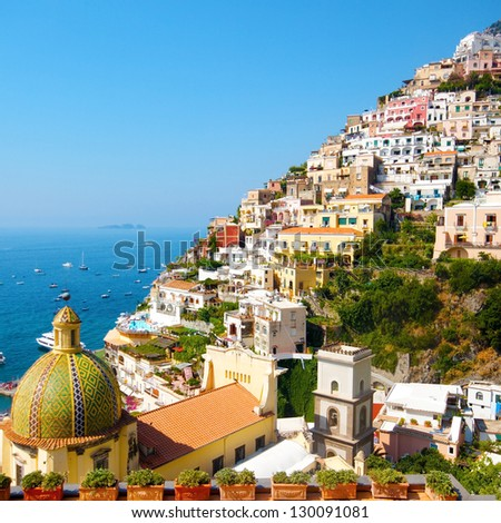 Positano, italy. Amalfi Coast - stock photo