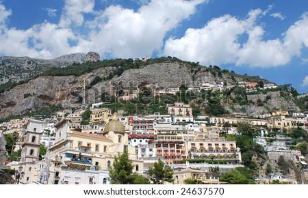 Positano town, Italy - stock photo
