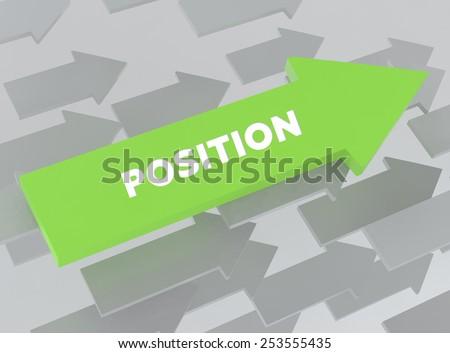 POSITION - stock photo