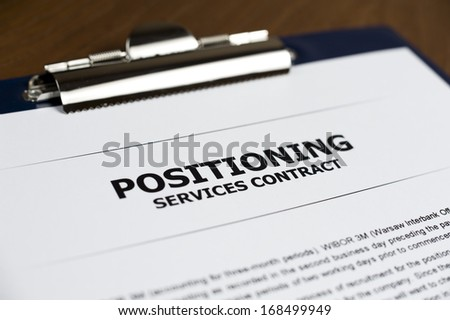 Positioning Services Contract