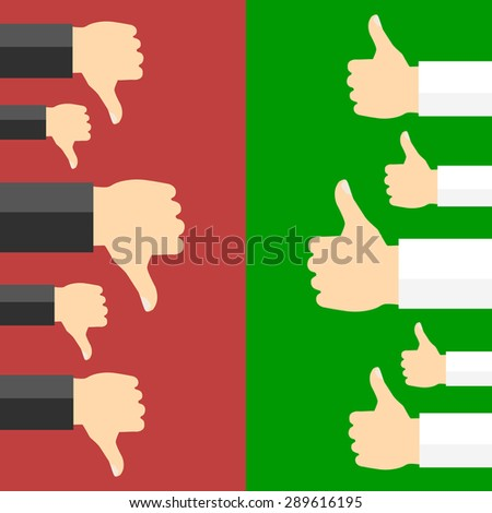 Positive and negative feedback concept. - stock photo