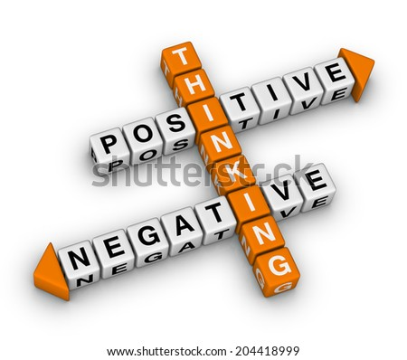 positive and negative thinking (orange-white crossword puzzles series)