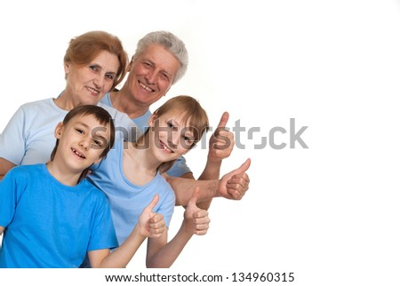 Positive family having a good leisure time in each other's company