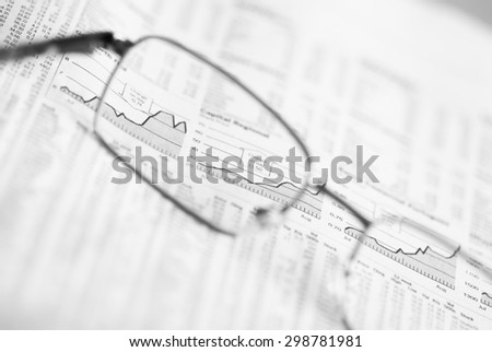 Positive financial charts. Financial market analysis