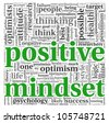 Positive mindset concept in word tag cloud on white background - stock photo