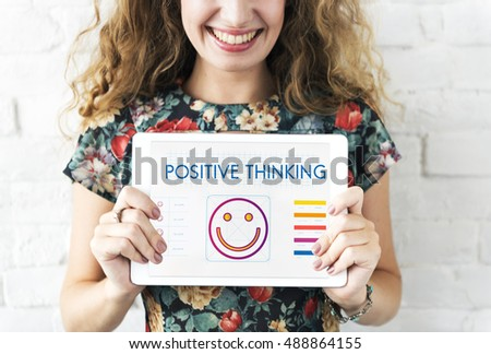 Positive Thinking Happiness Lifestyle Concept