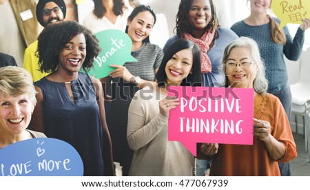 Positive Thinking Mindset Wellness Concept