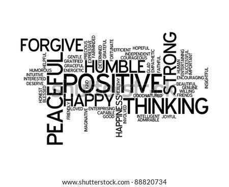 Stock Images similar to ID 88820728 - positive words info ...
