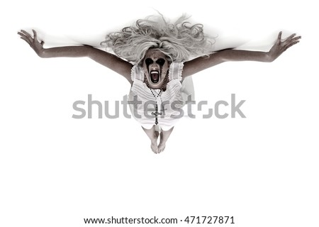 Possessed Woman on a ceiling