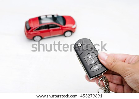 possession of the car - stock photo
