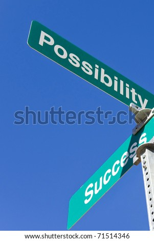Possibility and success intersection - stock photo