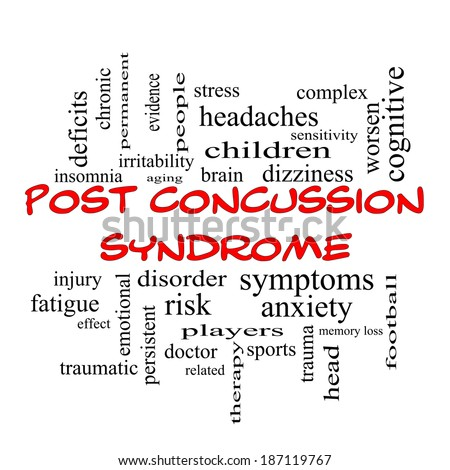 post concussion syndrome word cloud concept stock illustration, Skeleton