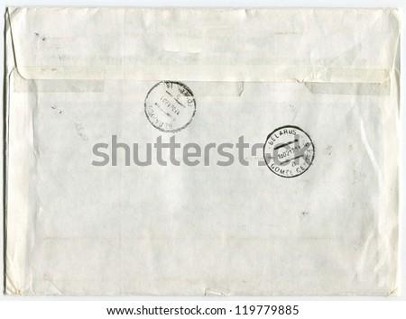 Post envelope, background. - stock photo