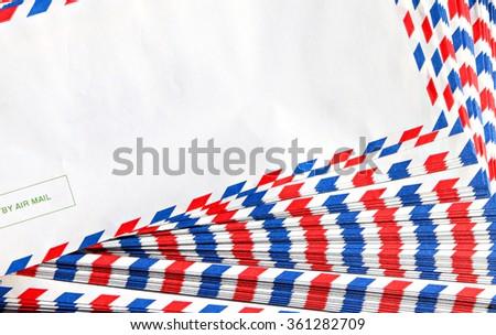 Post envelope background  - stock photo