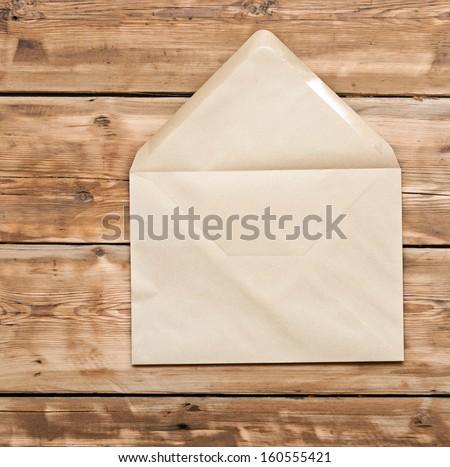 Post envelope on white background - stock photo