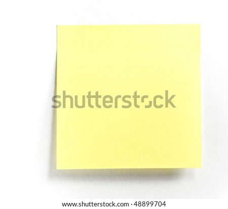 Post-it note - stock photo
