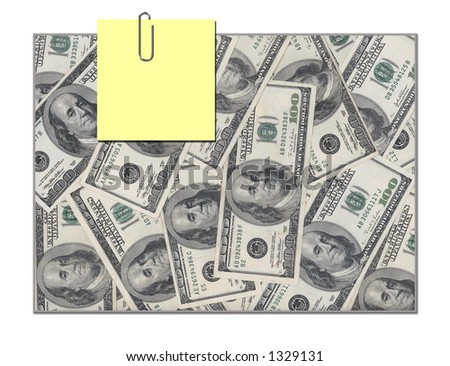 Post it note money