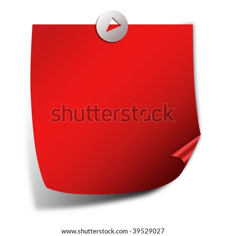 Post it note paper isolated over white - stock photo