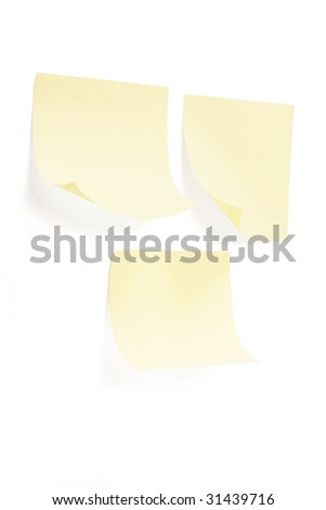 Post It Note Papers on White Background