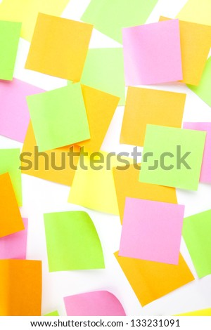 Post it notes - stock photo
