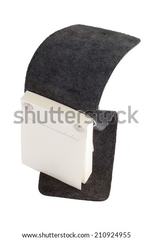 Post it with black cover isolated on white background