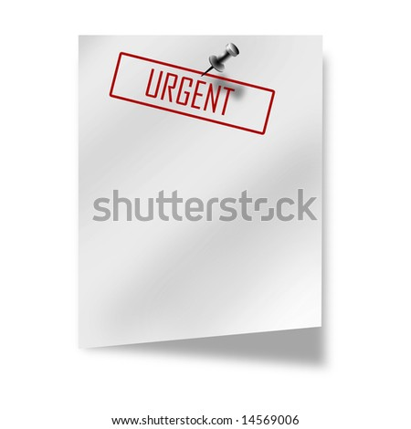 post-it with 'urgent' on a white background