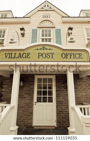 Post office in America Wild West style - stock photo