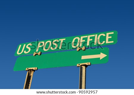 post office sign - stock photo