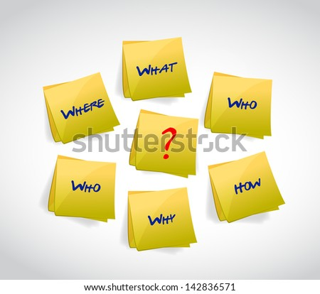 post questions concept illustration design over white - stock photo