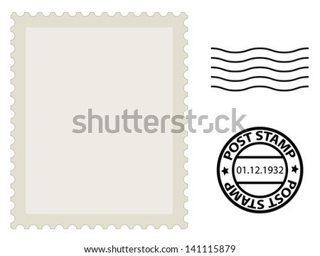 post stamp - stock photo